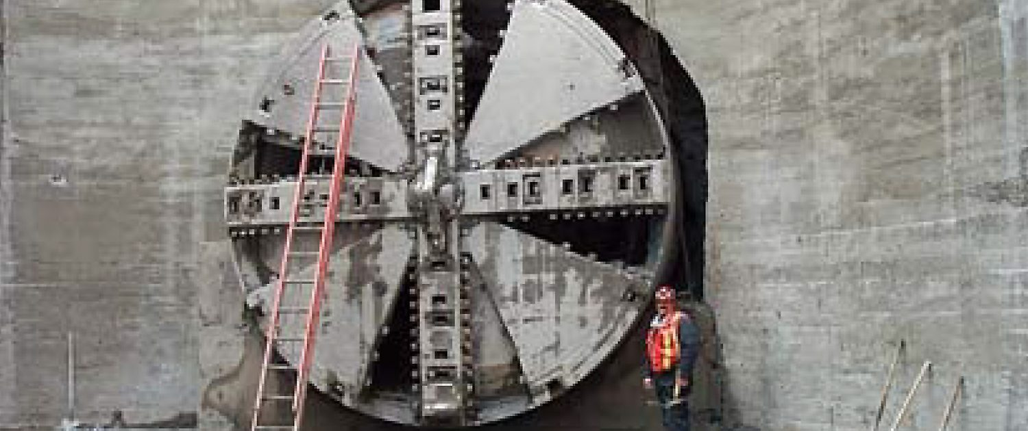 Tunnel Boring Machine Cutterhead at SubTerra Mercer Street Tunnel Project
